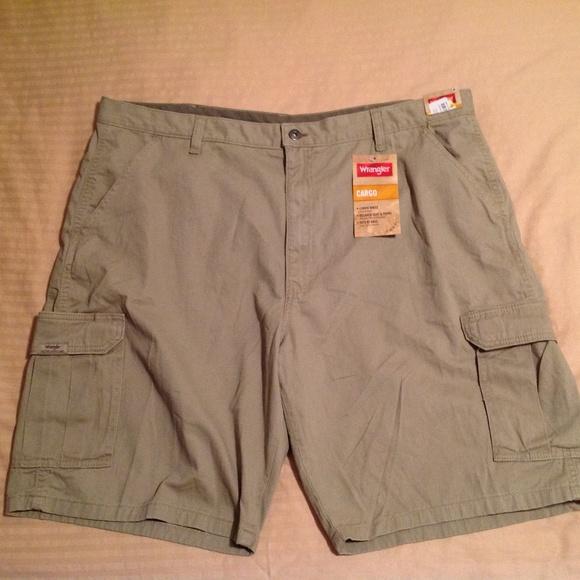 c1a3c45643 Wrangler Shorts | Mens Khaki Cargo Size 42 Nwt | Poshmark